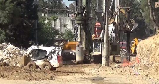 «Αγιά Σοφιά»-Υπογειοποίηση: Στο... φουλ τα μηχανήματα και οι αντιστηρίξεις (VIDEO)