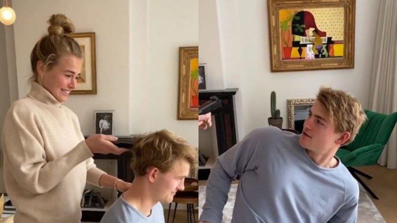 Ο Ντε Λιχτ δεν άντεξε και έβαλε την κοπέλα του να τον κουρέψει (VIDEO)