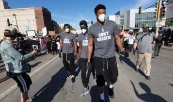 Συγκλονίζει ο Γιάννης Αντετοκούνμπο σε πορεία για τον Φλόιντ: «Θέλουμε αλλαγή και δικαιοσύνη» (VIDEO)
