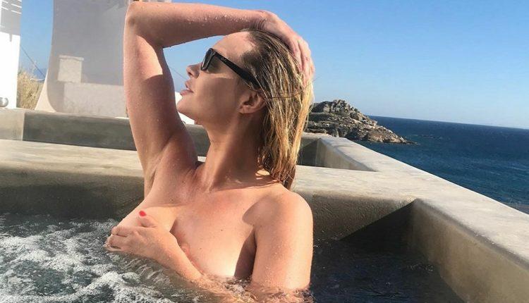Άννα Φάλκι: Υποστηρίκτρια της Λάτσιο με γυμνή φωτογραφία και κασκόλ (ΦΩΤΟ)