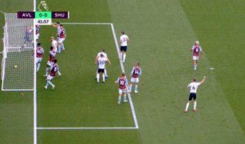 Premier League: Η ποδοσφαιρική «κλοπή της χρονιάς» στο «Βίλα Παρκ» -Η μπάλα πέρασε τη γραμμή, το γκολ δεν μέτρησε (VIDEO)