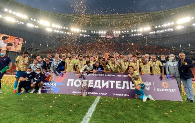 Οι παίκτες της Ζενίτ έσπασαν το Κύπελλο! (VIDEO)