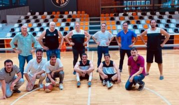 Αυγενάκης και Λιόλιος έπαιξαν μπάσκετ στην Πάτρα