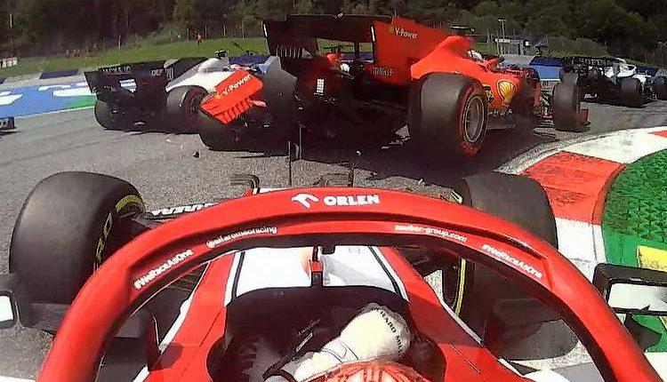 Χαμός στη Ferrari: Συγκρούστηκαν μεταξύ τους Λεκλέρ και Φέτελ! (VIDEO)