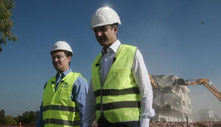 Στο Ελληνικό ο Κυριάκος Μητσοτάκης: 10.000 θέσεις εργασίας στη φάση κατασκευής του έργου