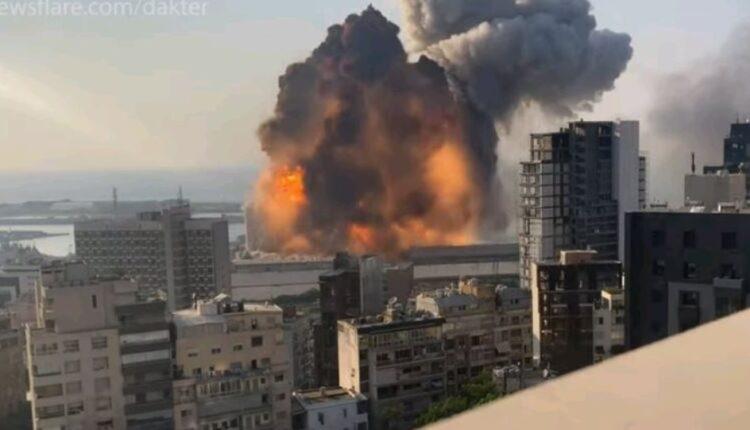 Εκρηξη στη Βηρυτό: Συγκλονιστικό VIDEO από τη στιγμή της έκρηξης σε slow motion