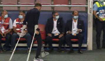 Πρόστιμο της UEFA στην Παρί επειδή... ο Τούχελ περπατάει με πατερίτσες