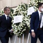 Τσέφεριν και Πλατινί στη κηδεία του Σάββα Θεοδωρίδη (ΦΩΤΟ)