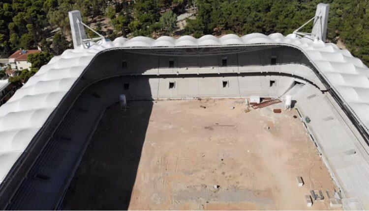 «Αγιά Σοφιά»: Μαγική πτήση πάνω από το γήπεδο της ΑΕΚ! (VIDEO)