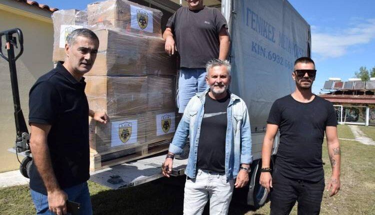 ΑΕΚ: Ο Ατματσίδης στην παράδοση της βοήθειας στην ΕΠΣ Καρδίτσας