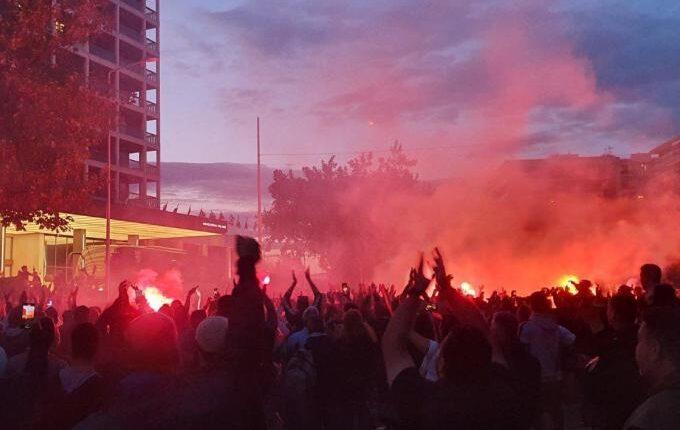 ΠΑΟΚ: Χιλιάδες οπαδοί έξω από το Μακεδονία! (VIDEO)