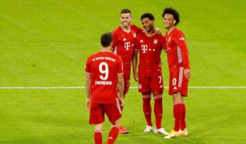 Bundesliga: Η Μπάγερν έκανε περίπατο κόντρα στην Σάλκε - Την διέλυσε με 8-0