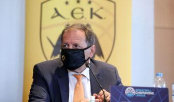 Αγγελόπουλος: «Το ιδανικό σενάριο είναι ένα: Final 8 με κόσμο και την ΑΕΚ νικήτρια»