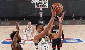 NBA: Οι Χιτ κέρδισαν με (115-110) τους Μπακς του Αντετοκούνμπο και έκαναν το (3-0) στη σειρά