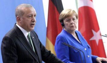 Ερντογάν σε Μέρκελ: «Με ποιο δικαίωμα μπλέκεται η Γαλλία στα πόδια μας;»