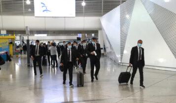 Εικόνες από την αναχώρηση της ΑΕΚ για Πορτογαλία