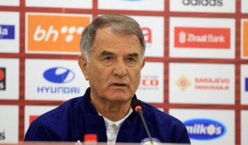 Μπάγεβιτς: «Δεν ξέρω αν θα παραμείνω στον πάγκο της Βοσνίας, εξαρτάται από τον πρόεδρο»