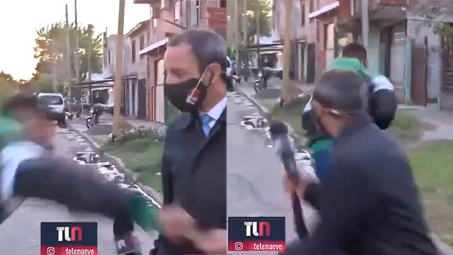 Εκλεψαν δημοσιογράφο σε live μετάδοση (VIDEO)