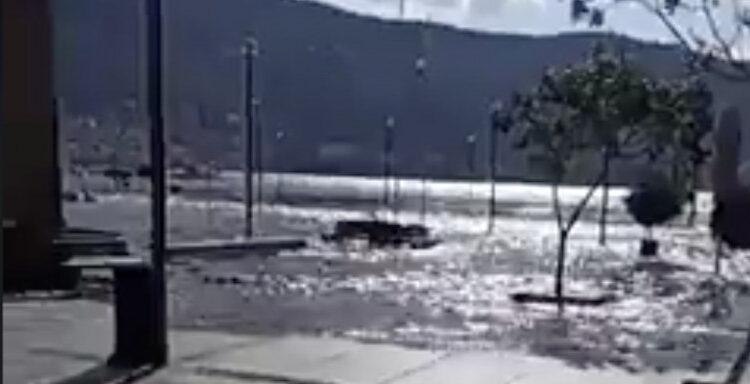 Σεισμός Σάμος: Η θάλασσα βγήκε στη στεριά! (VIDEO)