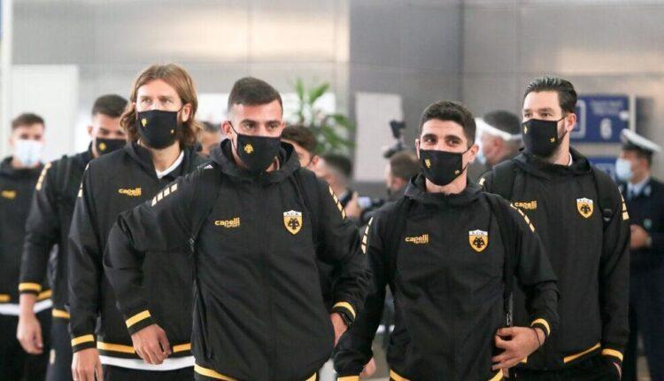 Εικόνες από την αναχώρηση της ΑΕΚ για Ουκρανία