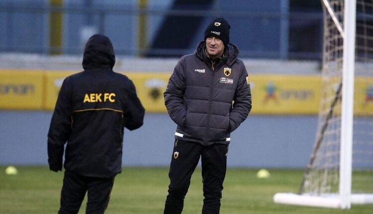 AEK: Πλάνα από την προπόνηση στα Σπάτα (VIDEO)