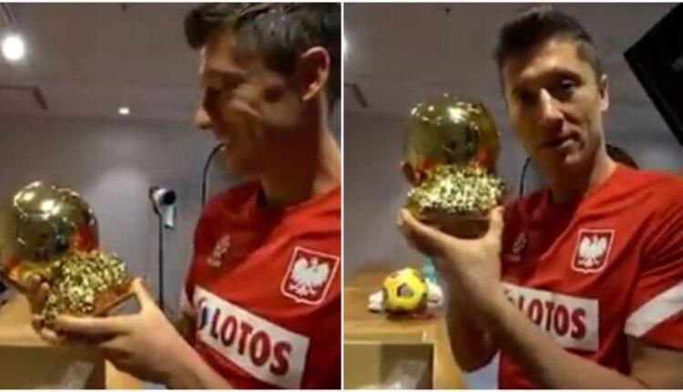 Λεβαντόφσκι: Πολωνοί φίλαθλοι τού έκαναν δώρο τη... Χρυσή Μπάλα (VIDEO)