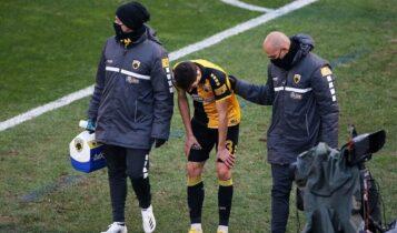 ΑΕK: Κάκωση στο γόνατο ο Λόπες