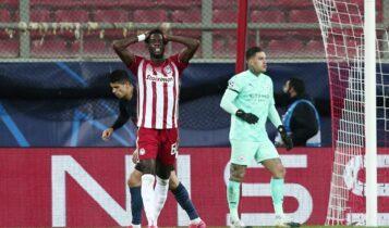 Ταμπούρι και Αγιος ο Θεός για τον Ολυμπιακό, ήττα μόνο με 1-0 από τη Μάντσεστερ Σίτι