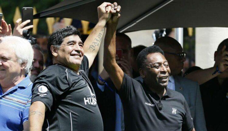 Συγκινητικό μήνυμα Πελέ για Μαραντόνα: «Μία μέρα θα παίξουμε ξανά μαζί ποδόσφαιρο στους ουρανούς»