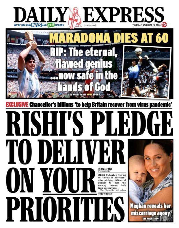 Μαραντόνα: Οι αγγλικές εφημερίδες τον αποκαλούν «κλέφτη» μετά τον θάνατό του (ΦΩΤΟ)