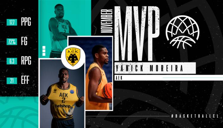 ΑΕΚ: MVP του Νοεμβρίου στο BCL ο Μορέιρα!