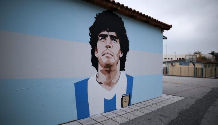 Γονείς στην Καλαμαριά δεν θέλουν το γκράφιτι του Μαραντόνα (ΦΩΤΟ-VIDEO)