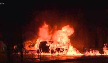 Η στιγμή της έκρηξης στο Ι.Χ. στο Κουκάκι (VIDEO)