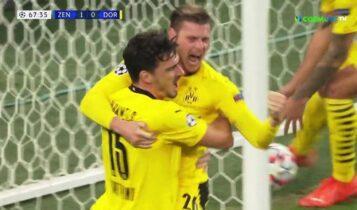 Champions League: Γύρισε το ματς και πήρε την πρωτιά η Ντόρτμουντ, 2-1 την Ζενίτ (VIDEO)