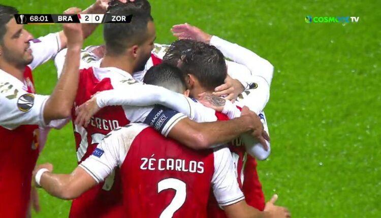 Europa League: Κέρδισε (2-0) τη Ζόρια η Μπράγκα (VIDEO)