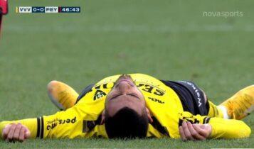 Γιακουμάκης: Τραυματίστηκε στον αυχένα και αποχώρησε από το ματς (VIDEO)