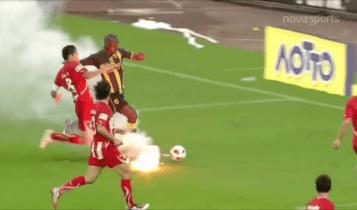 ΑΕΚ-Ολυμπιακός: Χαμένο πέναλτι, κούρσα Ντιόπ στο... καπνογόνο και... Μπλάνκο! (VIDEO)