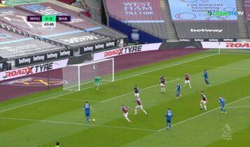 Γουέστ Χαμ-Μπράιτον 2-2: Ετσι μπήκαν τα γκολ (VIDEO)