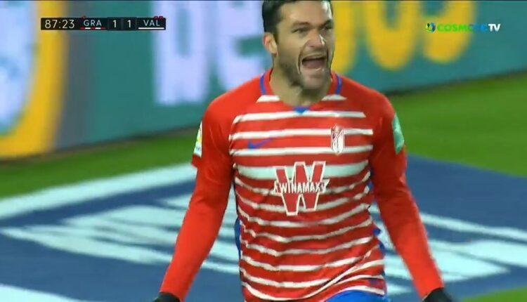 Τρομερή κεφαλιά του Μολίνα και 2-1 η Γρανάδα την Βαλένθια στο 88' (VIDEO)
