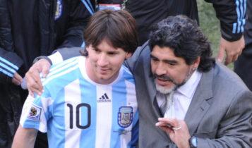 Επικό γκράφιτι με Μαραντόνα - Μέσι σε γήπεδο σάλας στην Αργεντινή (ΦΩΤΟ)