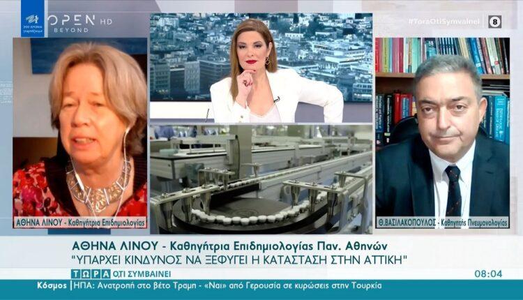 Λινού: «Υπάρχει κίνδυνος να ξεφύγει η κατάσταση στην Αττική» (VIDEO)