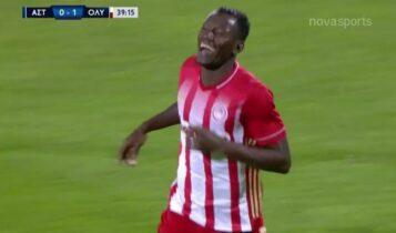 Μακρινό σουτ του Καμαρά και 0-2 ο Ολυμπιακός στην Τρίπολη (VIDEO)