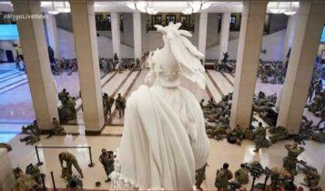 ΗΠΑ: Χιλιάδες στρατιώτες κοιμούνται στο πάτωμα του Καπιτωλίου (VIDEO)