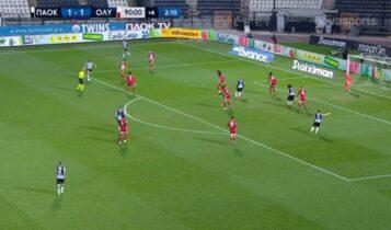 ΠΑΟΚ-Ολυμπιακός 1-1: Ετσι μπήκαν τα γκολ (VIDEO)