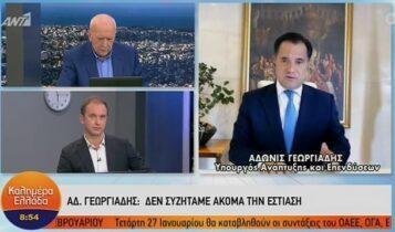 Γεωργιάδης: «Προτεραιότητα τα εμπορικά καταστήματα, δεν συζητάμε ακόμα για την εστίαση» (VIDEO)