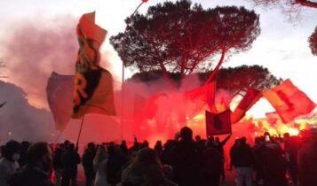 Χαμός από τους φίλους της Ρόμα έξω από το προπονητικό κέντρο! (VIDEO)