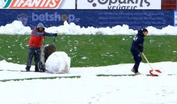 Κίνδυνος αναβολής στο ΑΕΛ-Απόλλων Σμύρνης λόγω χιονιού