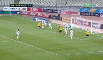 ΑΕΚ-Απόλλων Σμύρνης: Προβολή Σιμάνσκι και 1-0! (VIDEO)