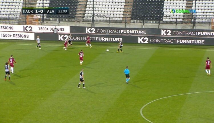 ΠΑΟΚ-Λάρισα: Μπαλιά στην πλάτη της άμυνας και 2-0 με τον Τζόλη (VIDEO)