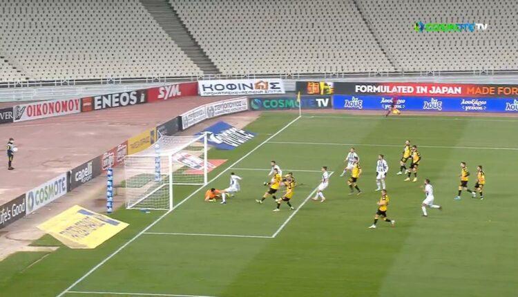 ΑΕΚ-Απόλλων Σμύρνης: O Τσιντώτας με επέμβαση κράτησε το 1-0 (VIDEO)